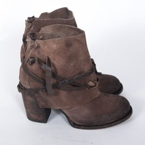 Freebird by Steven Cairo Brown Suede Ankle Boots